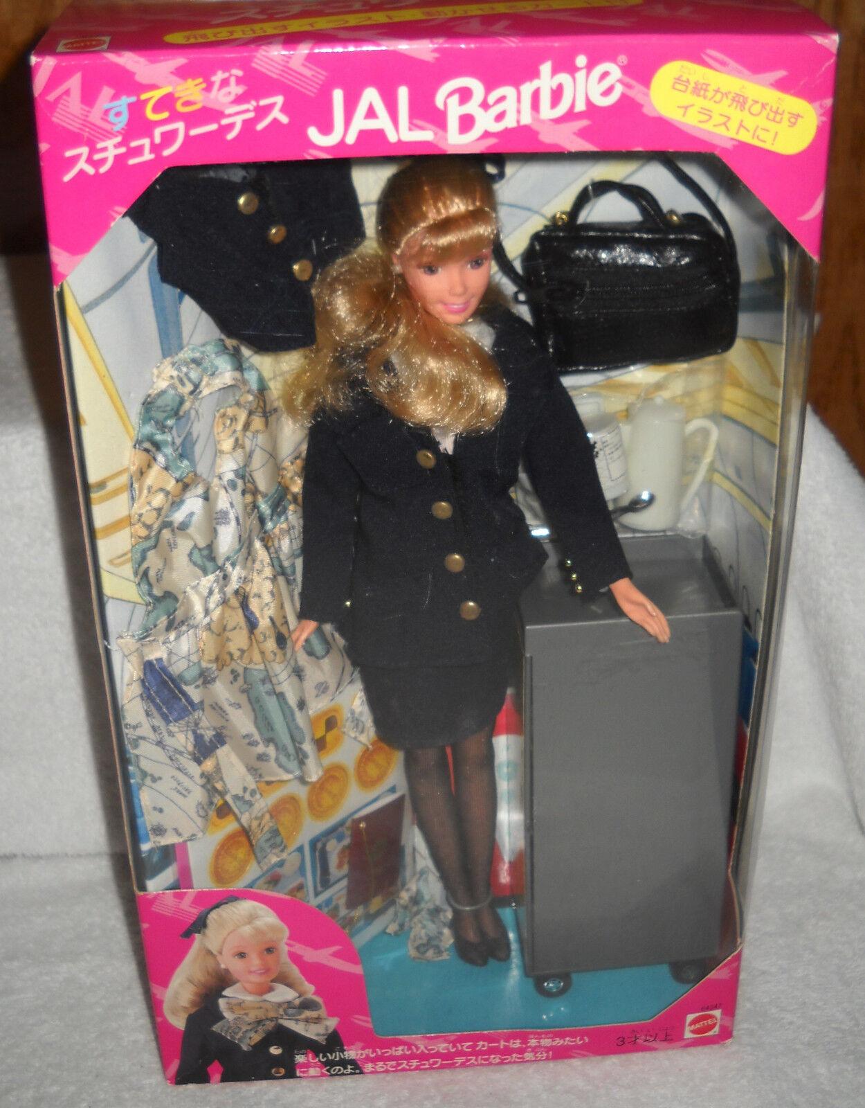 Nunca quitado de la Caja Mattel Japan Airlines (JAL) Flight Attendant Barbie