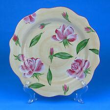 Set of 2 Dinner Plates, NEAR MINT, Pink Rose, Garden Ridge, Hand Painted