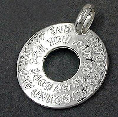 925 ECHT SILBER *** Liebe Amulett  Anhänger 25 mm
