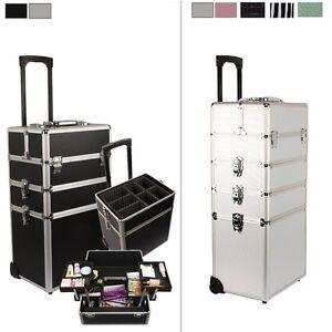 Trolley Boîte Coffre à maquillage Bijoux et Cosmétique Malette Esthétique Case