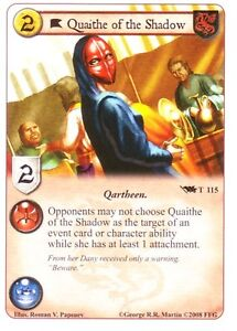 3 x Quaithe of the Shadow AGoT LCG 1.0 Game of Thrones ... Quaithe Of The Shadow