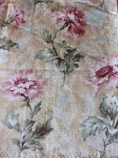 Lovely French Art Nouveau Antique Floral Botanicals On Printed Lace Ground c1904
