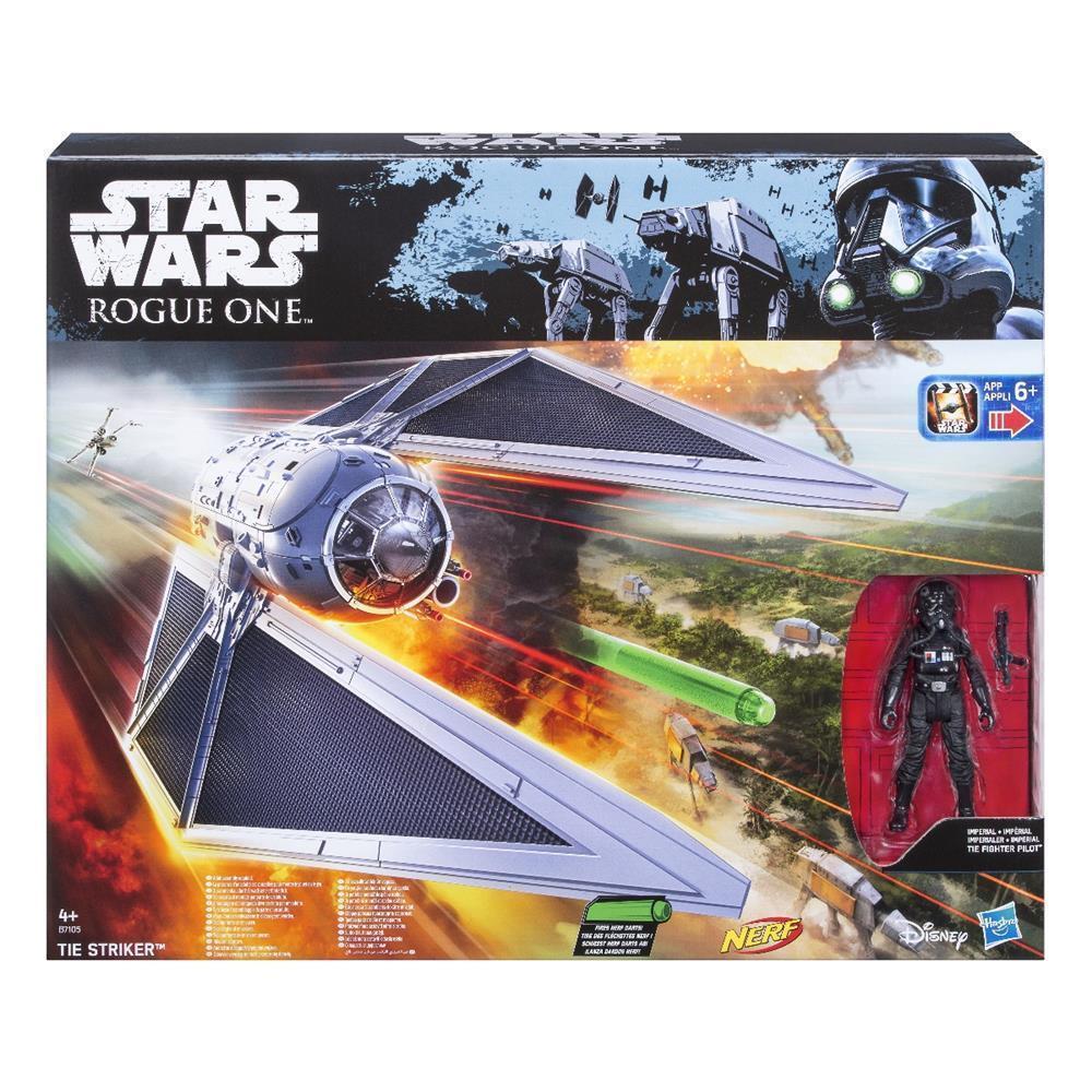 Hasbro Star Wars Rogue One Fahrzeug Tie-Striker mit 3.75  Spielfigur   Spielset