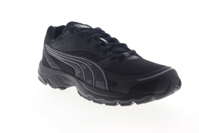 Puma Axis 36846501 Mens Black Mesh Lace Up Low Top Sneakers Shoes 9