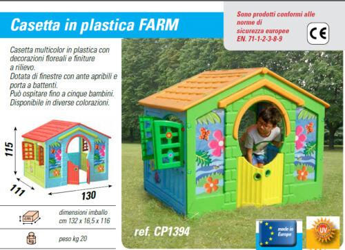 casetta giardino bambini casa gioco 115 cm altezza  130 cm larghezza x 5 bambini