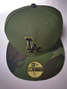 879748cb Details about Los Angeles Dodgers Adult New Era 59FIFTY 2017 Memorial Day  Fitted Hat Sz 7 1/8