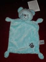 Doudou plat Ours Bleu Turquoise empreinte Nicotoy Simba Toys Neuf 2 dispo