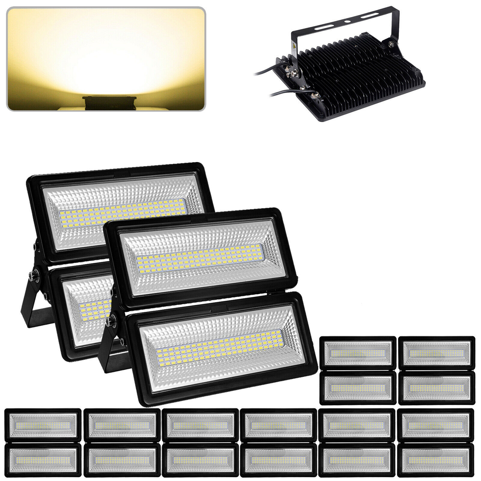 10 x LED módulo proyectores 100W proyector proyector lámpara luces blancoa cálida