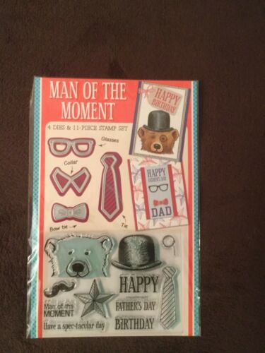 Man of the Moment Stamp Set And Metal Dies Fathers Day//Birthday NEW CARDMAKING