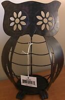 Yankee Candle Brown Metal Owl Jar Candle Holder Online & Catalog Exclusive