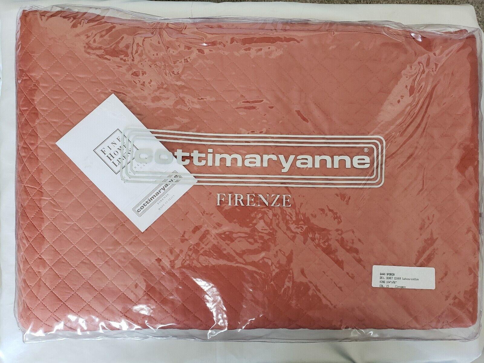 NEW Cottimaryanne Frenze Duvet Cover King Sateen Cotten Quilten Cinnamon Quilted