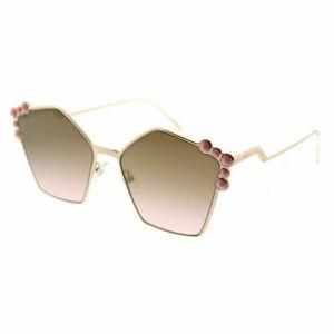908d420e2 Fendi Can Eye FF 0261 000 Rose Gold Metal Fashion Sunglasses Brown ...