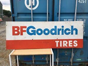 BF Goodrich Metal Tire Sign Large Gas Oil Garage Pump Decor