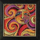 Celestial Sun Beaded Cross Stitch Kit Mill Hill 2018 Laurel Burch LB141812