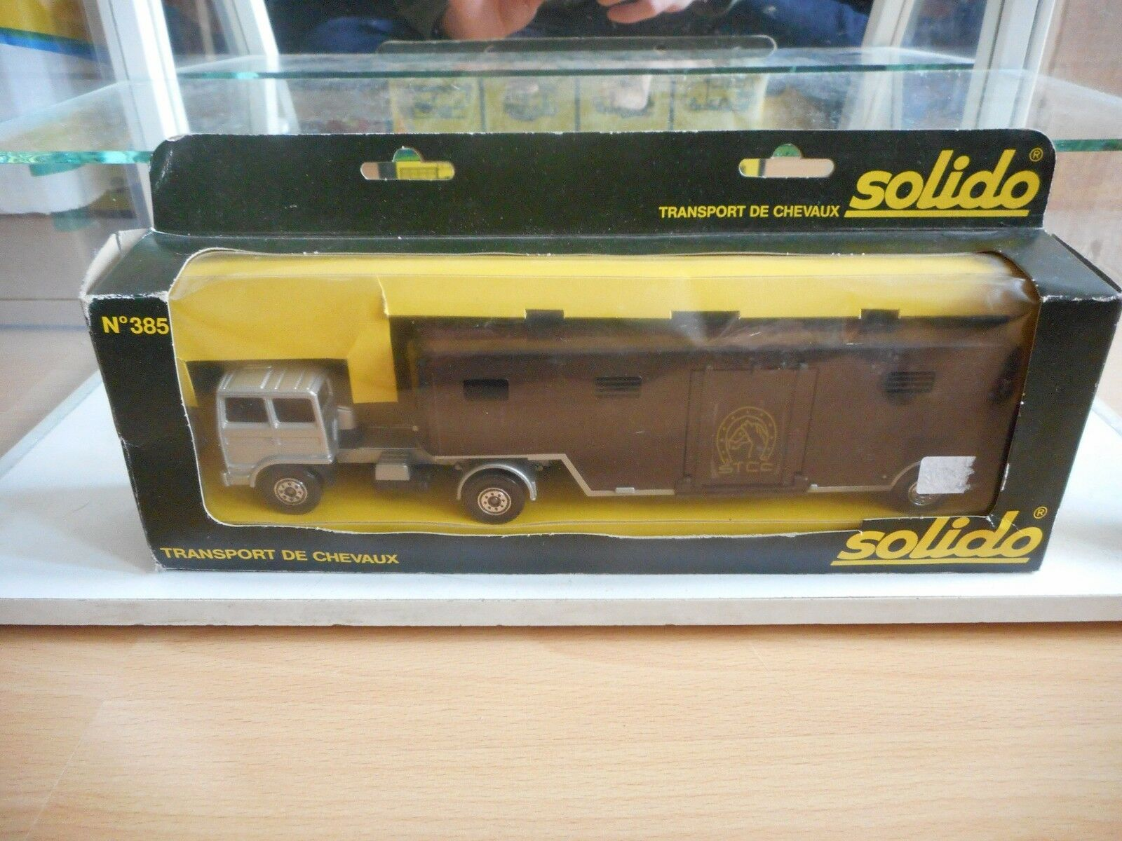 Solido Saviem Transport de Chevaux in Grey/Brown in Box