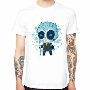 Game-of-thrones-Cartoon-Night-King-Men-039-s-Cotton-T-shirts-Short-Sleeve-Tops-Tee