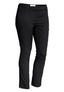 Sheego-Pantalon-en-tissu-Legging-Gr-40-52-a-la-cheville-Noir-089-384-NEUF