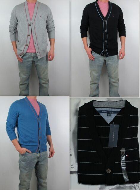 NWT Tommy Hilfiger Men ARGYLE Button CARDIGAN Fleece Sweater Shirt