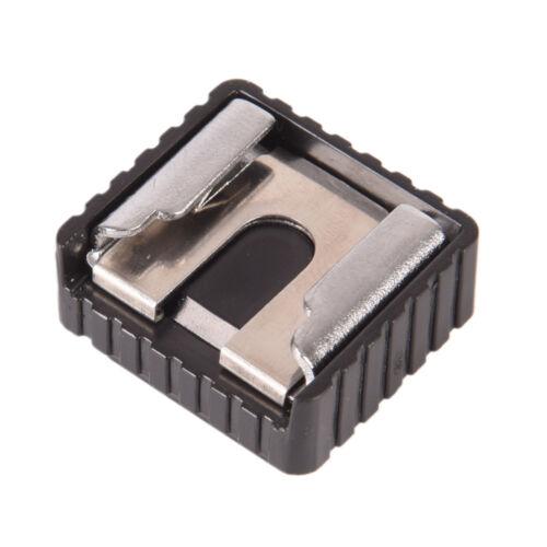 "Flash Cold Hot Shoe Bracket Mount Adapter 1//4/"" Screw for Studio Speedight DD"