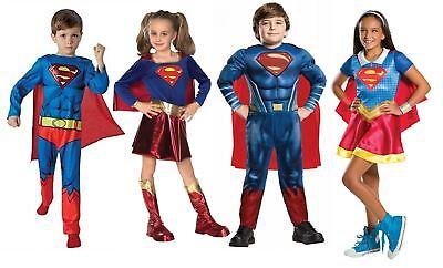 Onesto Fumetto Costume Bambini Bambine Supereroe Supergirl Superman Libro Giorno-mostra Il Titolo Originale