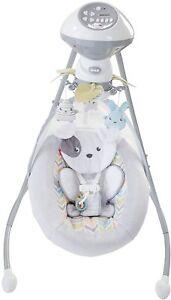Fisher-Price-Sweet-Snugapuppy-Dreams-Cradle-039-n-Swing-White-2-Ways-to-Swing