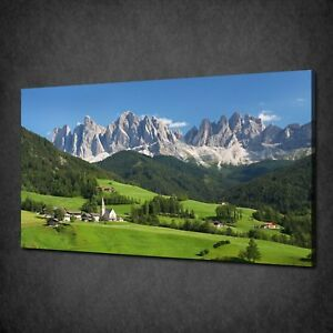 EUROPE ALPS MOUNTAINS LANDSCAPE WALL ART CANVAS PRINT PICTURE FREE DELIVERY