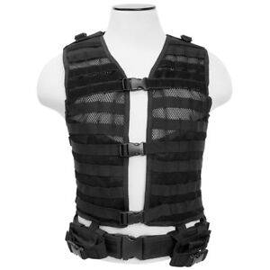 NcSTAR CPV2915B Airsoft Molle Black PALS Tactical Modular Vest