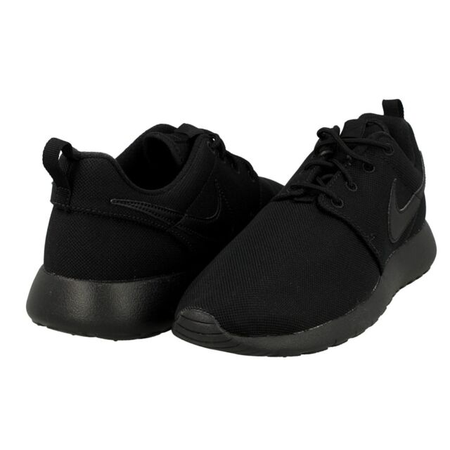 online store 3b430 ca441 Nike Roshe One GS Big Kids 599728-031 Black Mesh Athletic Shoes Youth Size  5.5
