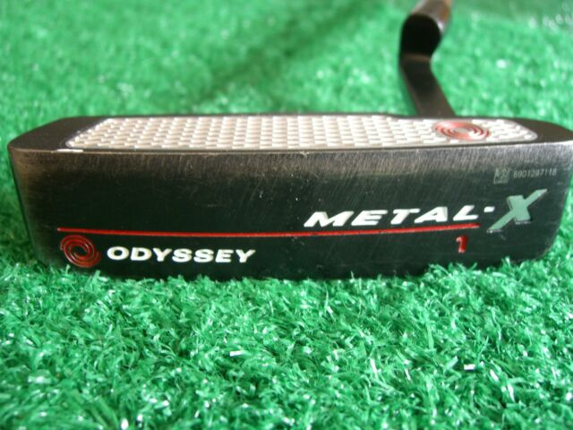 """Odyssey Metal-X #1 34"""" Heel-Shafted right hand blade insert Putter W/Head Cover"""