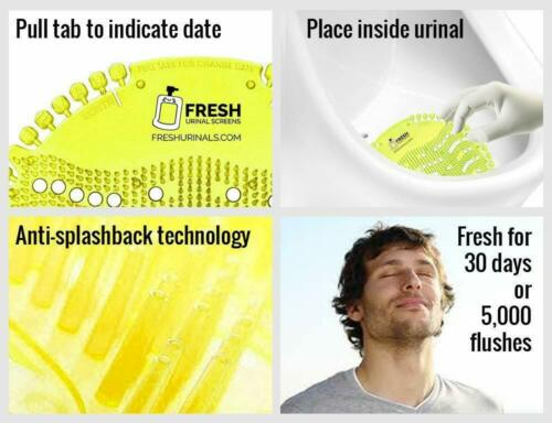 Urinal Screen Mat Exciting New Fragrances Which Last For 30 Days 6 Pcs Set