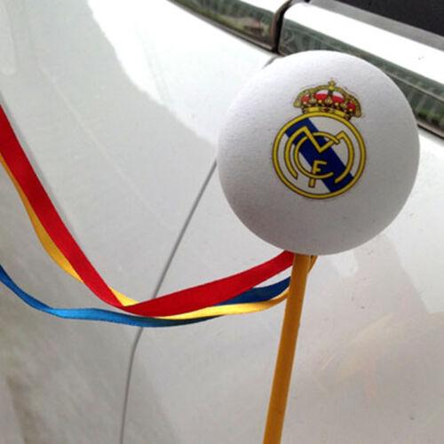 Cute Real Madrid Football Antenna Ball Car Aerial Ball Antenna Topper Decor Ball