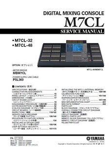 yamaha m7cl digital mixing console service manual and repair guide rh ebay com Yamaha Audio Equipment Yamaha 12 Channel Mixer