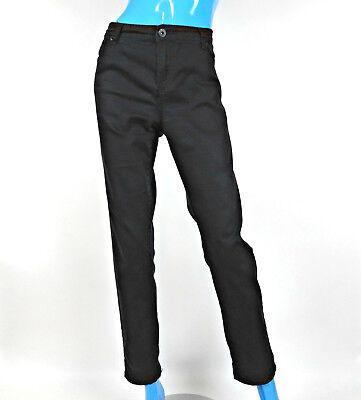 Buffalo Black Skinny Jeans Pants Crystal 34 14 L Sequins Bling Slimming Embellis