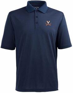 NWT-Antigua-Virginia-Pique-Xtra-Lite-Performance-Polo-Shirt-Navy-Blue-Medium