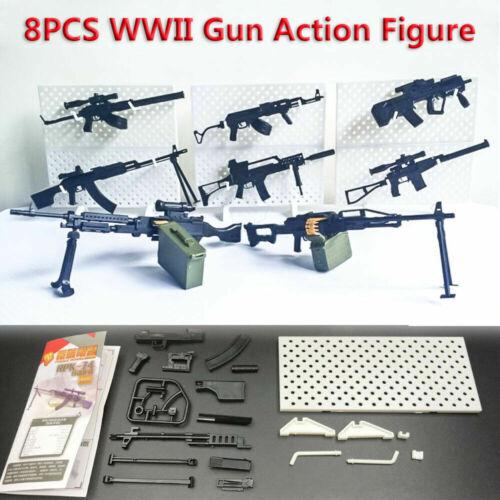1:6 WWII Rifle Machine Gun Model Puzzles Building Action Figure