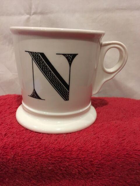 Anthropologie Monogram Mug Letter N Large Stoneware