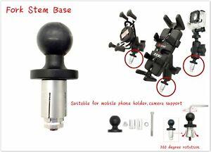 RAM-Mount-Motorrad-Bike-Mount-Fork-Stem-Base-with-Ball-fuer-Handy-Camera-Stuetzen