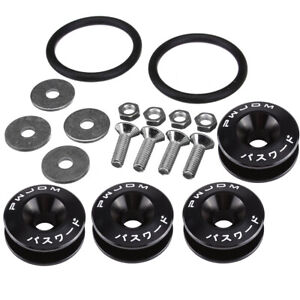 Quick Release Fasteners Washers Bolts for Front Rear Trunk Hatch Lids Bumpers Universal black Quick Release Fasteners