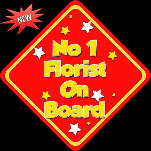 N ° 1 floristería a bordo como bebé a bordo de signo non Pers Rojo//amarillo