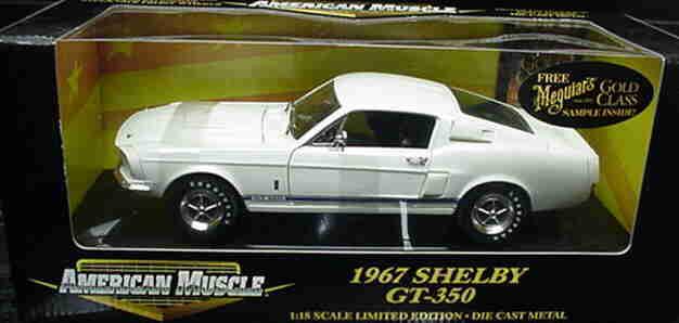 1967 Shelby Mustang blanco 1 18 Ertl American Muscle 32561