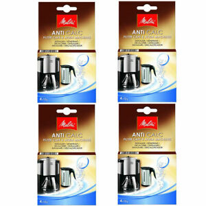 Details About 4x Melitta Anti Calc Descaler For Kettle Coffee Machines 16 Sachets 6545475x4