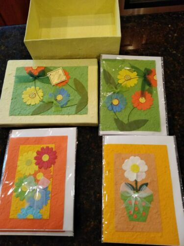 HANDMADE BLANK NOTE CARDS W//ENVELOPES~SET OF 12~GIFT BOXED~3 STYLES~GREAT GIFT!