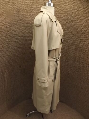 Donna Spy Out 10 Coat Fog Trench Cotton London Brown W Liner Vtg Zip P Coperta 7q4IzxwR