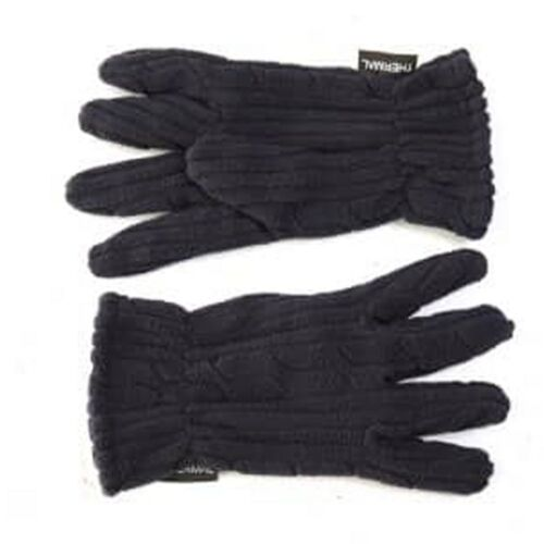 Ladies Gloves Navy Blue Thermal Fleece One Size