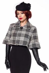 Uy Mantella Veste Manteau Noir Hiver Femme Vintage Chaud 50135 Cape WPppqwFv8O