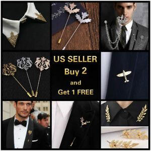 14-style-Men-039-s-Brooch-Lapel-Badge-Suit-Pin-Chest-Metal-Collar-Pin-Accessories
