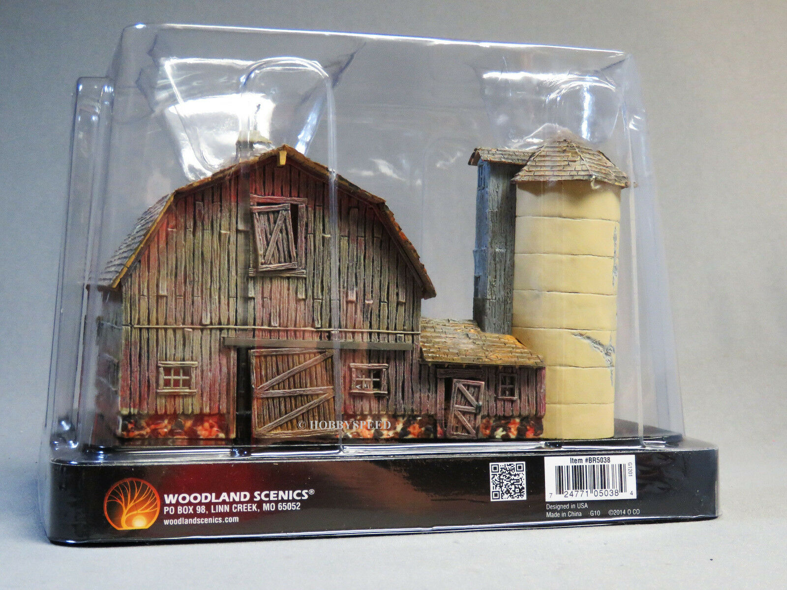 WOODLAND SCENICS HO SCALE OLD WEATHERED BARN BUILT & READY READY READY farm silo WDS5038 065945