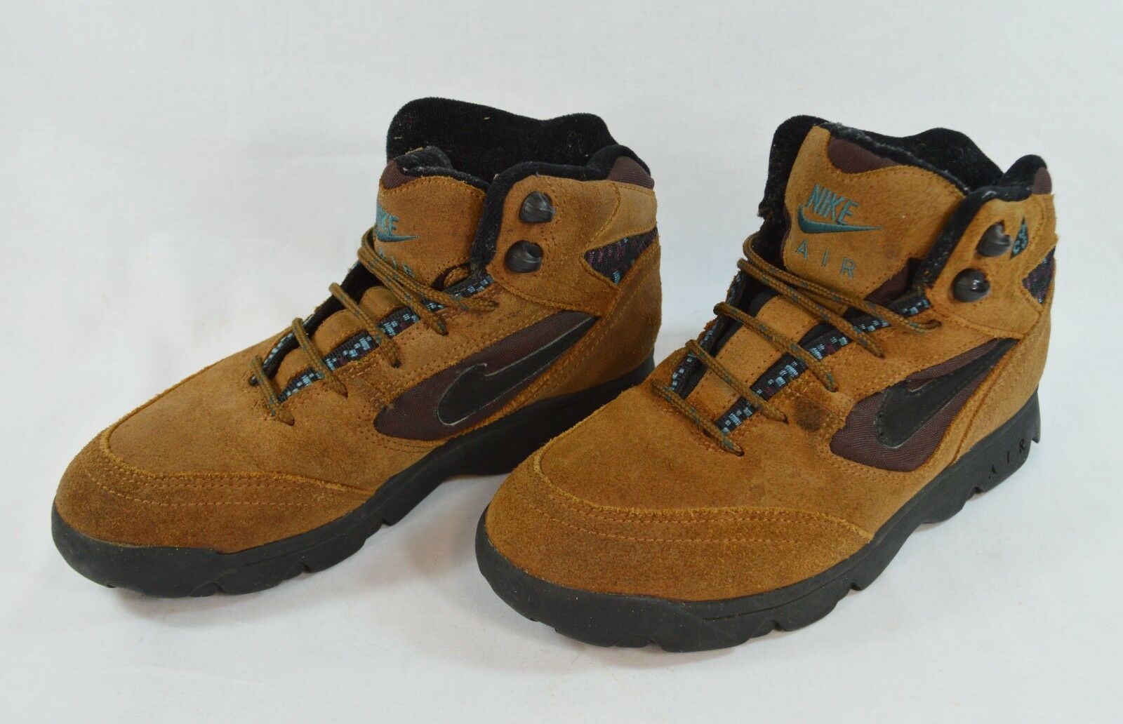 finest selection 7fa28 ee208 Vintage Nike Air ACG Hiking Boots Boots Boots Brown Leather Mens 7 Womens 8  950406-