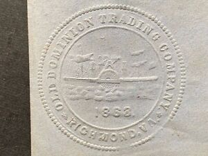 1863 RICHMOND VA OLD DOMINION TRADING CO EMBOSSED SHIP ENVELOPE ! CONFEDERATE !!