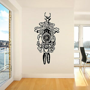 CUCKOO-CLOCK-Vinyl-wall-art-sticker-decal